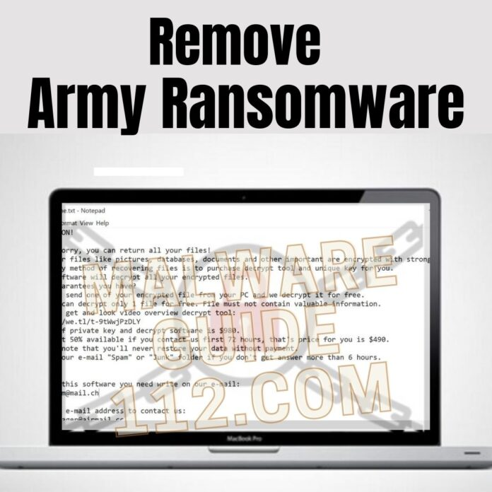 Remove Army Ransomware