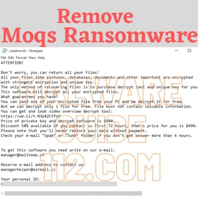 Remove Moqs Ransomware