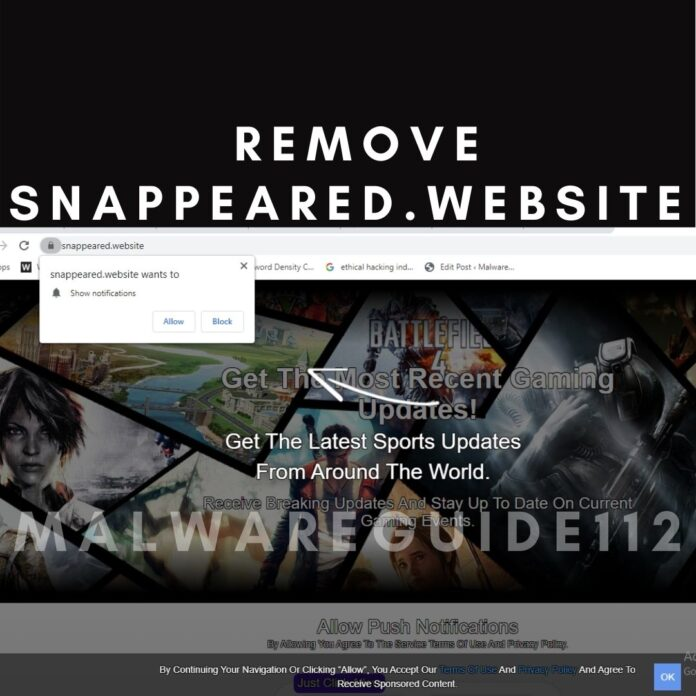 Remove Snappeared.website