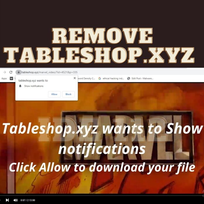 Remove Tableshop.xyz