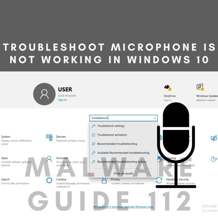Troubleshoot Microphone Is Not Working In Windows 10