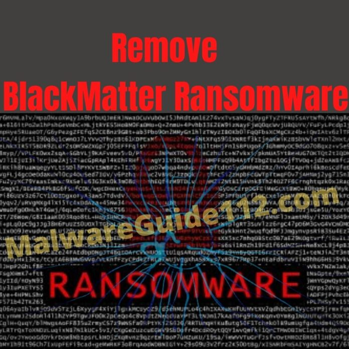 Remove BlackMatter Ransomware