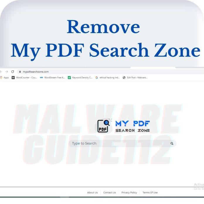 Remove My PDF Search Zone