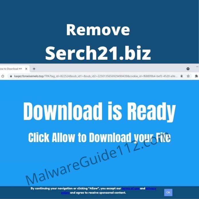 Remove Serch21.biz