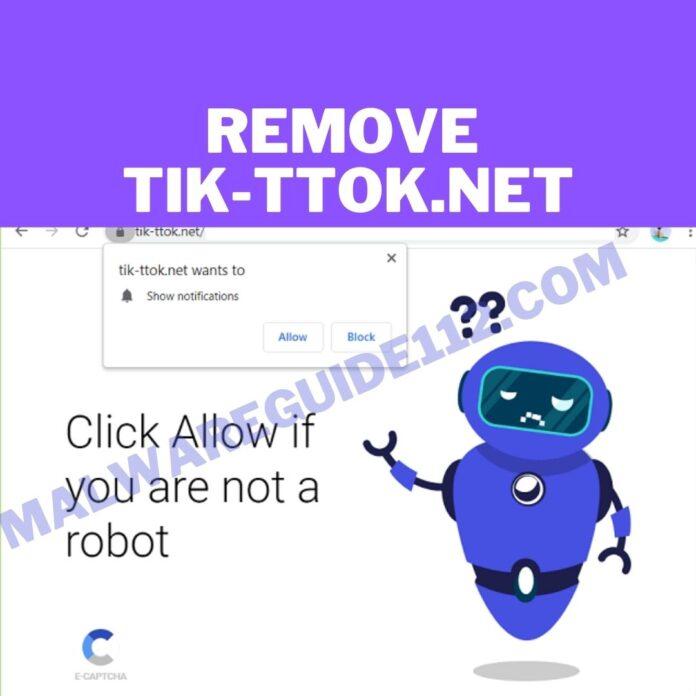 Remove Tik-ttok.net