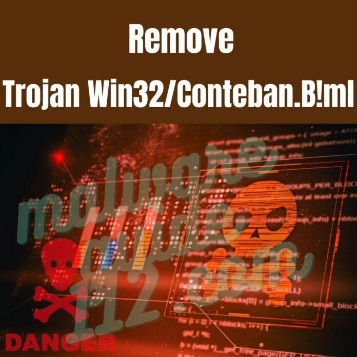 Remove Trojan Win32Conteban.B!ml