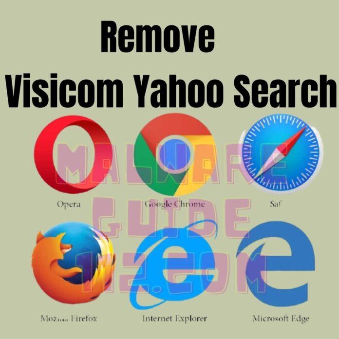 Remove Visicom Yahoo Search
