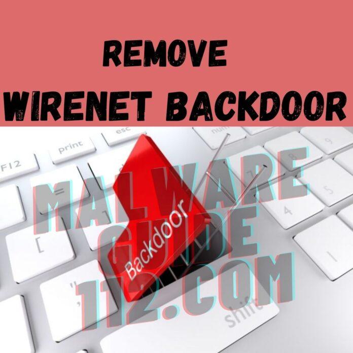 Remove Wirenet Backdoor