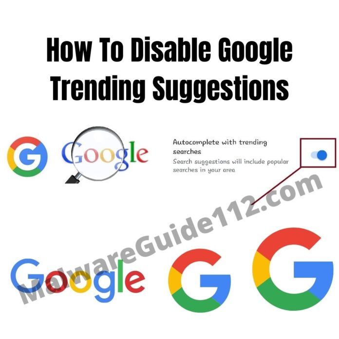 how To Disable Google Trending Suggestions
