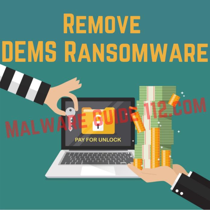 Remove DEMS Ransomware