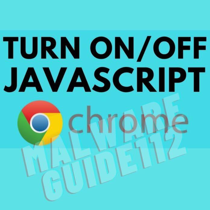 Enable Disable JavaScript Chrome