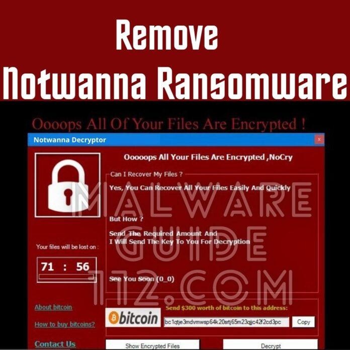 Remove Notwanna Ransomware