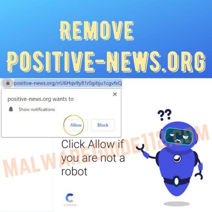 Remove Positive-news.org