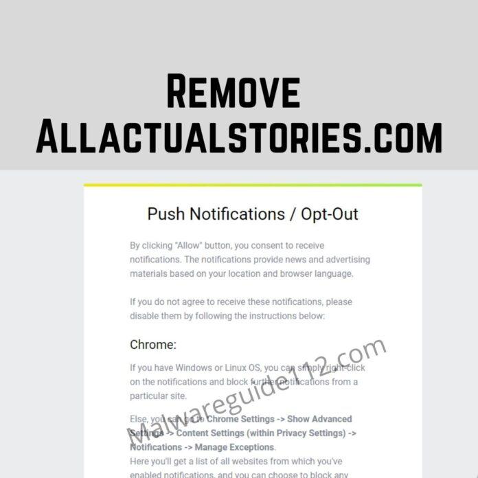 Remove Allactualstories.com