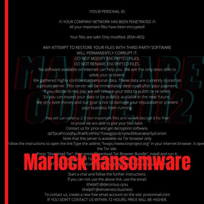 Remove Marlock virus