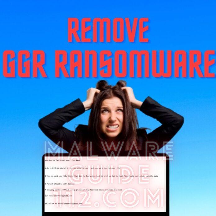 Remove GGR Ransomware