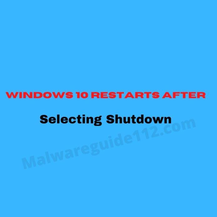 Windows PC restarts after shutown