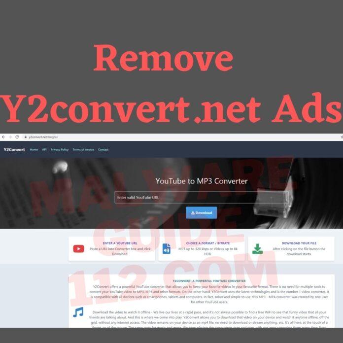 Remove Y2convert.net Ads